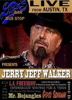 Dixie's Bar & Bus Stop: Jerry Jeff Walker DVD Cover Art